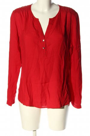 Airfield Langarm-Bluse rot Casual-Look