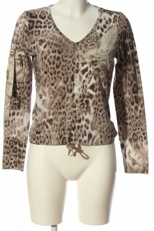 Airfield Long Sleeve Blouse brown-natural white allover print casual look