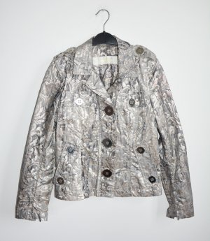 Airfield Short Jacket silver-colored-light grey mixture fibre