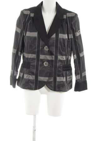 Airfield Long Blazer black-light grey check pattern casual look