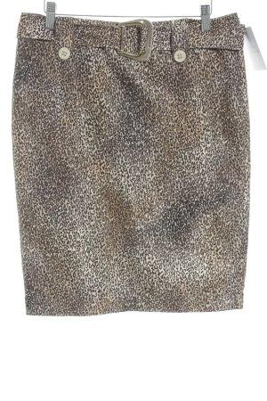Airfield Midi Skirt black brown-beige animal pattern Logo application