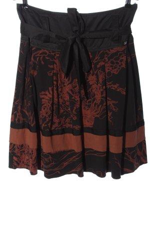 Airfield Miniskirt black abstract pattern elegant