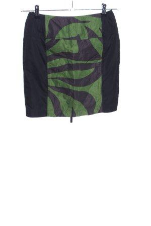Airfield Minirock schwarz-grün grafisches Muster Casual-Look
