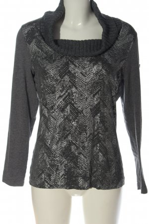 Airfield Turtleneck Shirt light grey-silver-colored animal pattern casual look