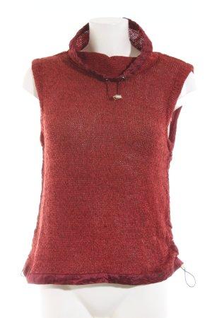 Airfield Koszulka z golfem czerwony W stylu casual