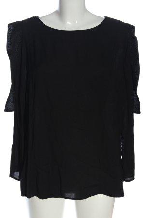 Airfield Slip-over blouse zwart casual uitstraling