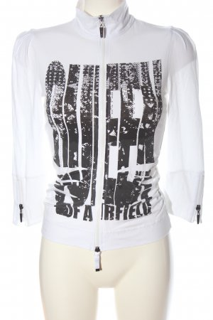 Airfield Shirt Jacket white-black printed lettering casual look