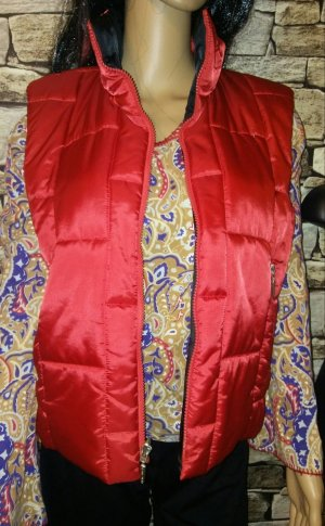 Airfield Quilted Gilet red-brick red