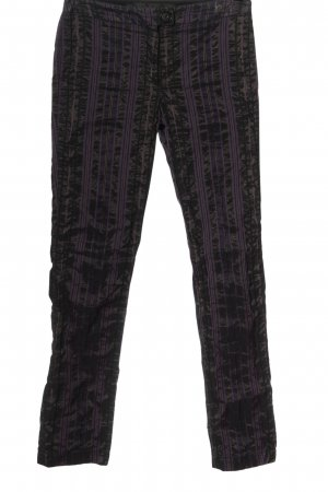 Airfield Jersey Pants brown-lilac striped pattern wet-look
