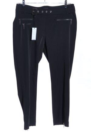 Airfield Pantalon en jersey noir style décontracté