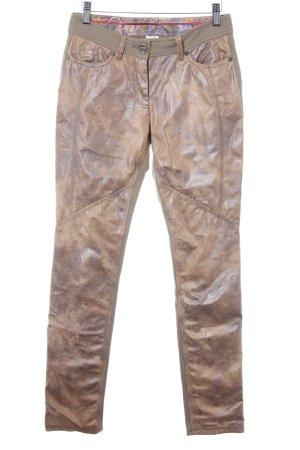 Airfield Spodnie materiałowe zielono-szary-kremowy Gradient W stylu casual