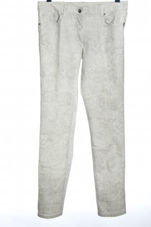 Airfield Straight Leg Jeans light grey-white abstract pattern casual look