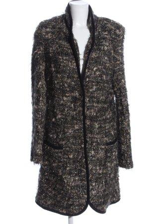 Airfield Manteau en tricot noir moucheté style décontracté