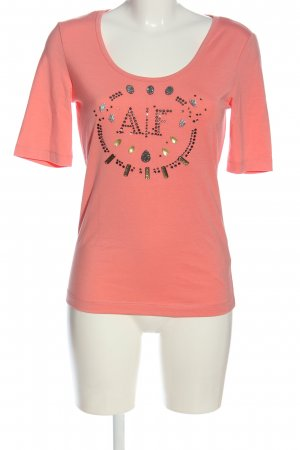 Airfield Knitted Jumper pink printed lettering casual look