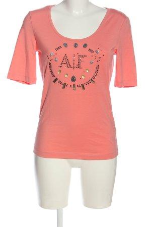 Airfield Koszulka z dzianiny różowy Wydrukowane logo W stylu casual