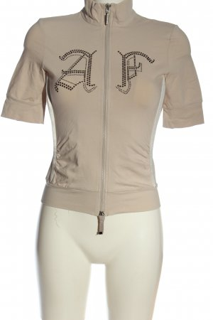 Airfield Sweat Jacket natural white printed lettering casual look