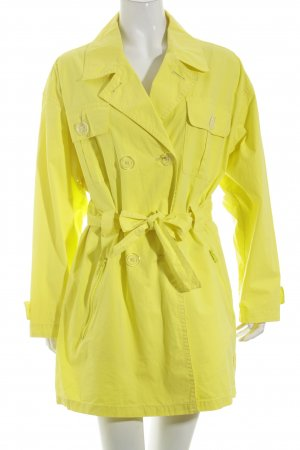 Airfield Trench Coat yellow extravagant style