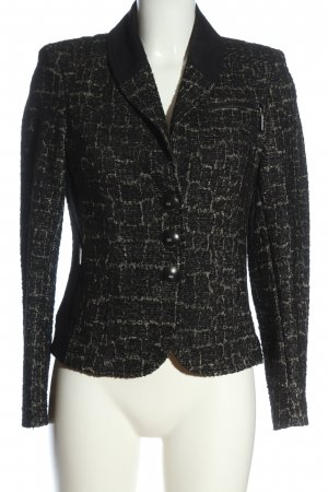 Airfield Tweed Blazer black-gold-colored allover print casual look