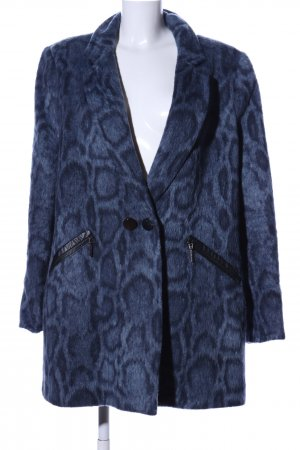 Airfield Between-Seasons-Coat blue-black animal pattern casual look