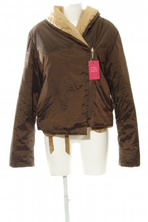 Airfield Reversible Jacket dark brown-beige wrap look