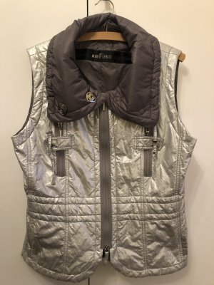 Airfield Quilted Gilet silver-colored-grey