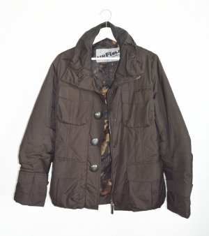 Airfield Quilted Jacket dark brown polyester
