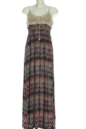 Airisa Robe longue imprimé allover style décontracté