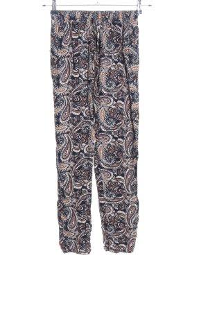 Airisa Pantalone jersey motivo astratto stile casual