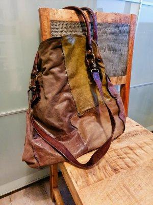 A.S.98 Shopper multicolore cuir