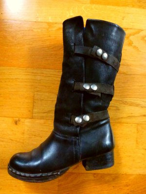 Airstep Heel Boots black leather