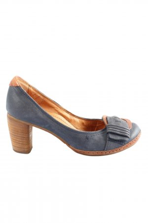 Airstep High-Front Pumps blue-brown casual look