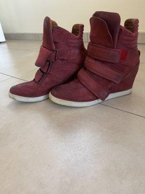 Airstep Zapatillas con tacón burdeos Cuero