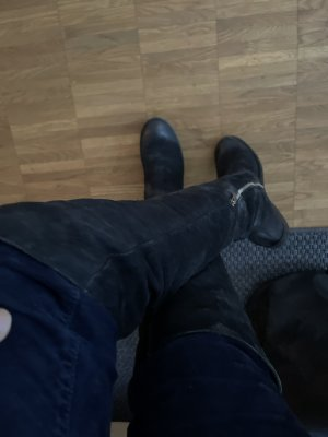 Air Step Kniehoge laarzen zwart