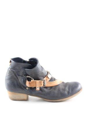 Airstep Reißverschluss-Stiefeletten blau Casual-Look