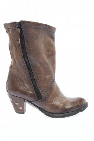 Airstep Zipper Booties brown casual look