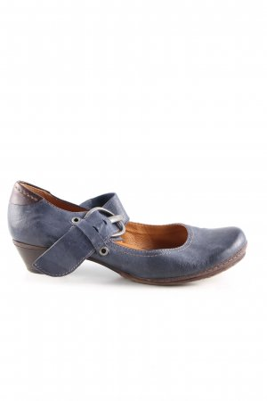 Airstep Strapped pumps blue vintage look