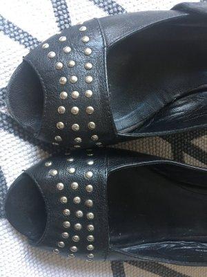 Airstep Sandalen in Schwarz Leder mit Nieten - Gr 41 - ROCKER Style