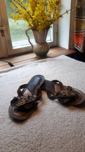 Airstep Toe-Post sandals sand brown-brown leather