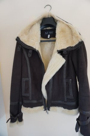 Armani Jeans Winter Jacket brown polyester
