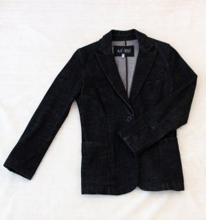 Armani Jeans Marynarka jeansowa czarny Bawełna