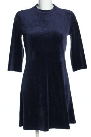 """AJC A-Linien Kleid """"Samt"""" dunkelblau"""