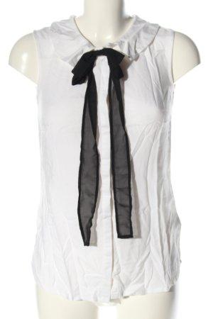 AJC Sleeveless Blouse white-black business style
