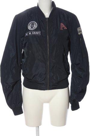 AJC Giacca bomber nero stile casual
