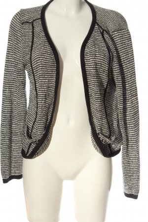 AJC Cardigan wit-zwart abstract patroon casual uitstraling