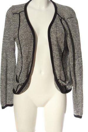 AJC Cardigan weiß-schwarz abstraktes Muster Casual-Look