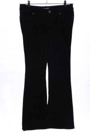 AJC Spodnie sztruksowe czarny W stylu casual