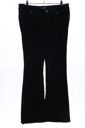 AJC Corduroy Trousers black casual look