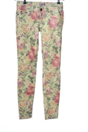 AJC Spodnie z pięcioma kieszeniami Wzór w kwiaty W stylu casual