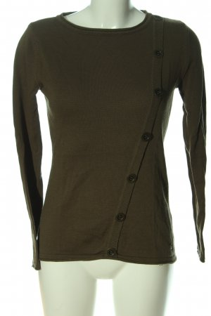 AJC Coarse Knitted Sweater khaki casual look