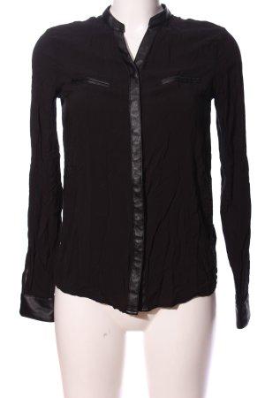 AJC Koszulowa bluzka czarny W stylu biznesowym